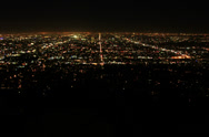 Stock Video Footage of 5K Los Angeles Night View 10 Timelapse Traffic UHD