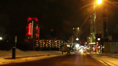 Pimeänajo Downtown Niagara Falls Arkistovideo