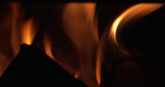 4K close up fire burning Stock Footage
