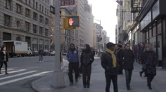 5th Avenue in New York City in 4K Stock Footage