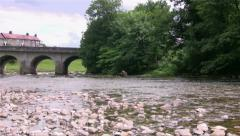 River bridge over the Wharfe at Grassington Stock Footage