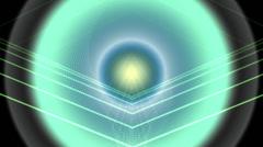 VJ Loop - Pulsating circles with glowing dancing lines Stock Footage