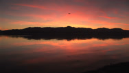 Stock Video Footage of Red Reflection Sunset