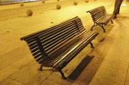 Stock Photo of night benches