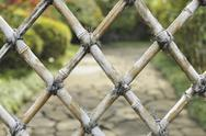 Stock Photo of bamboo fence