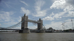 Tower Bridge in London, UK - stock footage
