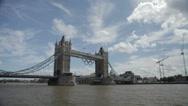 Tower Bridge in London, UK Stock Footage