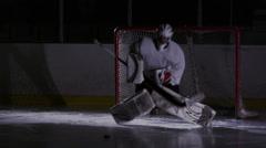 Team Sport - Ice Hockey - Goaltender Stock Footage