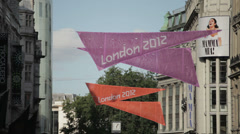 London during the 2012 Olympics Stock Footage