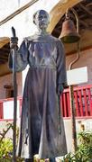 Father joseph serra statue mission santa barbara california Stock Photos