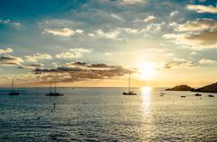 Ibiza sunset Stock Photos
