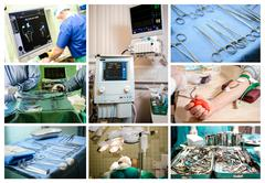 Medical conceptual collage Stock Photos