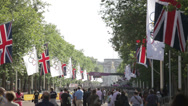 Buckingham Palace and The Mall during the London 2012 Olympics Stock Footage