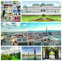 Stock Photo of collage of vienna landmarks