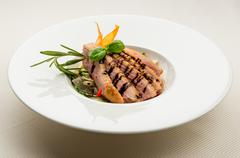 fillet of duck breast - stock photo