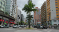 Traffic in the city - Santos Beach, Sao Paulo, Brazil. 84 - Ana Costa avenue Footage