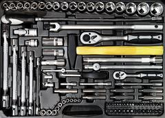 Toolbox close-up Stock Photos