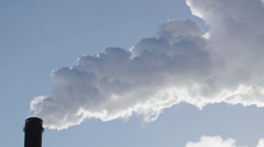 Smoke stacks pollution Stock Footage