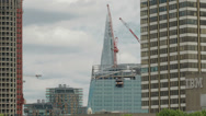 Construction in London with the Shard in the background Stock Footage