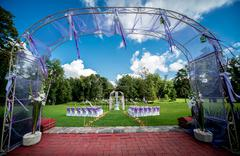 Wedding ceremony outdoors Stock Photos