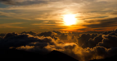 Epic 4K sunrise with clouds formation at 10000ft Stock Footage