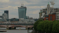 20 Fenchurch Street and the OXO Tower in London Stock Footage