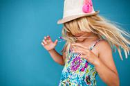Stock Photo of playful cute young girl