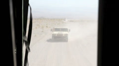 US - Army - Convoy Drive 02 - Desert Stock Footage