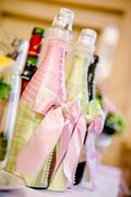 decorated bottles - stock photo