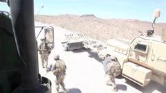 US - Army - Convoy Drive 02 - Rescue Soldier Stock Footage