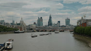 The city of London and the River Thames Stock Footage