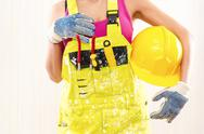 Stock Photo of female construction worker