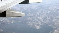 Aerial Aircraft wing over Texas Lake HD BM 1547 Stock Footage