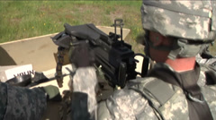 US - Army - MK19 Grenade Launcher 01 Stock Footage