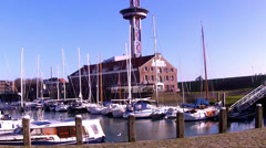 Small town Vlissingen (Netherlands). Stock Footage