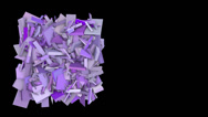 Stock Video Footage of 3d abstract purple spiked shape on black