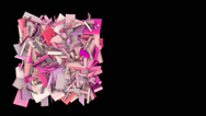 Stock Video Footage of 3d abstract pink red spiked shape on black