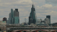 The city of London and Blackfriars bridge Stock Footage