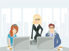A meeting in a conference room. Stock Illustration
