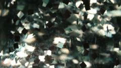floating sparkles slowly underwater motion background - stock footage