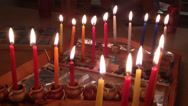 Stock Video Footage of hanukkah candles tradition