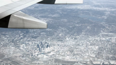 Aerial Dallas Texas from aircraft HD BM 1556 Stock Footage