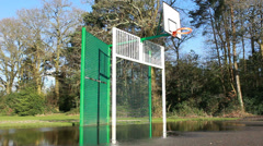 Basketball game cancelled (dolly) Stock Footage