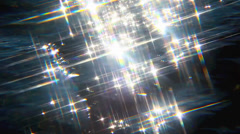 Sparkles on the water - stock footage