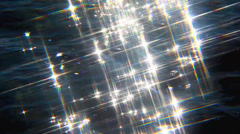 Sparkles on the river colorful - stock footage
