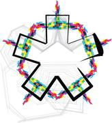 font illustration. asterisk symbol - stock illustration