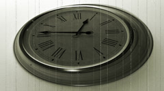 Old wall clock Timelapse. Roman numerals clock - stock footage