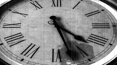 Old wall clock Timelapse. Roman numerals clock Stock Footage