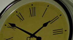 Retro clock pointer - Vintage time background. Timelapse - stock footage