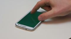 Smartphone sideway zoom Stock Footage